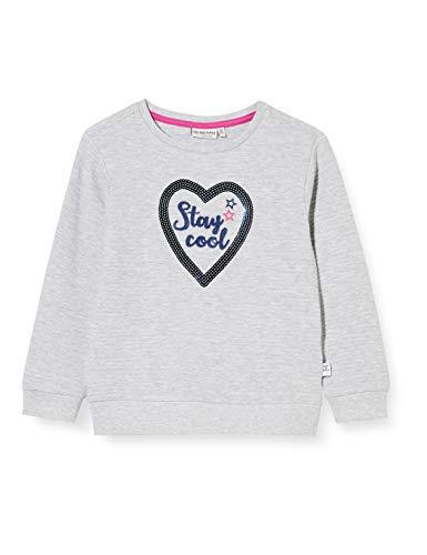 Salt & Pepper Mädchen 05111231 Sweatshirt, Light Grey Mel, 104/110