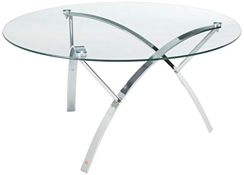Christopher Knight Home Marin Round Glass Coffee Table, Clear Tempered Glass