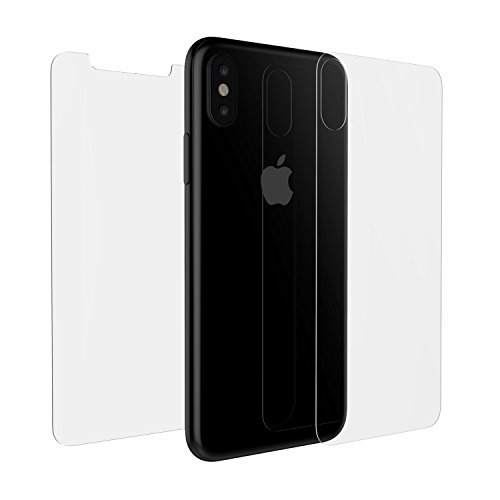 iPhone Xs/X Luvvitt Full Body Back and Front Tempered Glass Screen Protector Bundle for iPhone Xs/X (2017-2018) - Clear