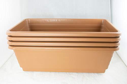 4 Japanese Plastic Bonsai Training Pot / Flower Garden Planter 18'x 10.5'x 5.75'