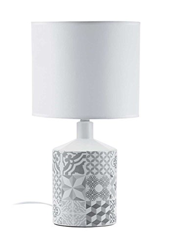 Mathias 3410078 lamp TEGELS PATCH D22 H40, keramiek/ABJ PVC + polyester, E14, 230 W, grijs