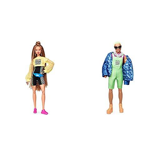 Barbie Muñeca BMR 1959, Look pantalón Ciclista + Ken Muñeco BMR 1959, Look Pelo Verde , Regalo para niñas y niños 3-9 años (Mattel GHT96) , Color/Modelo Surtido