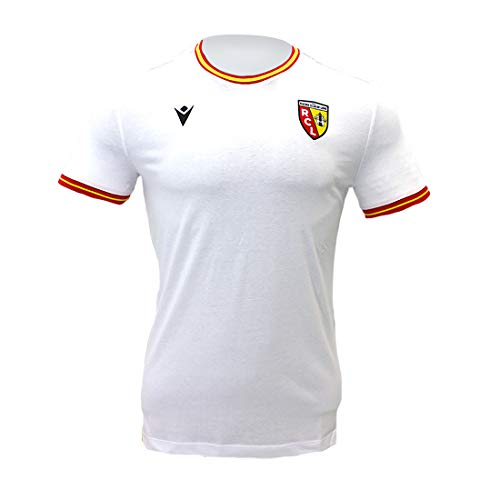 Macron Thedus Racing Club de Lens - Camiseta oficial de fútbol, blanco, XXL