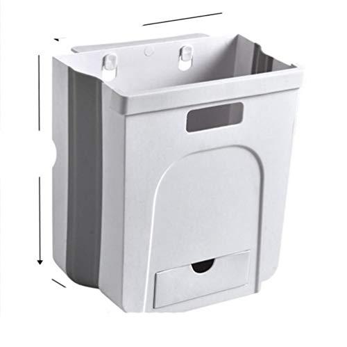 Cubo de basura plegable de cocina de 5 l/8 l para colgar en la pared, cubo de basura plegable de 24,5 x 17 x 26,5 cm, Estados Unidos, cubo de basura