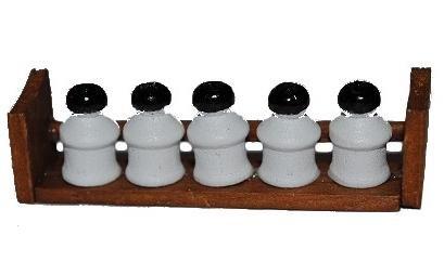 alles-meine.de GmbH Gewürze Gewürzständer Dosen Vorratsbehälter Gewürzbord Bord Küchenbord Regal - Puppenstube Küche - Maßstab 1:12