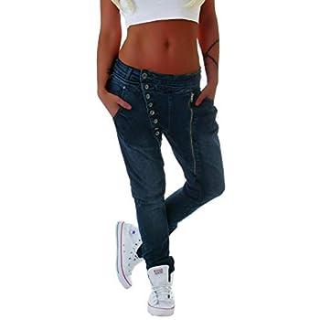 Style-Station Mozzaar Damen Boyfriend Jeans Baggy