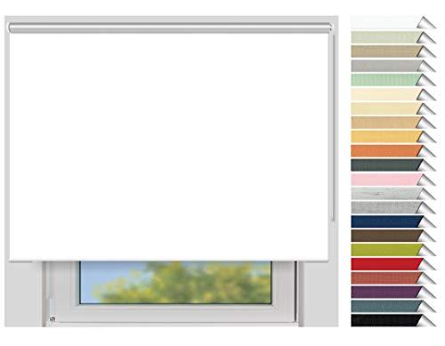 EFIXS Thermorollo Maxi - 32 mm Welle - Farbe: Weiss (051) - Breiten: 40-240 cm - Hier: 240 x 190 cm (Stoffbreite x Höhe) - Hitzeschutzrollo - Verdunklungsrollo