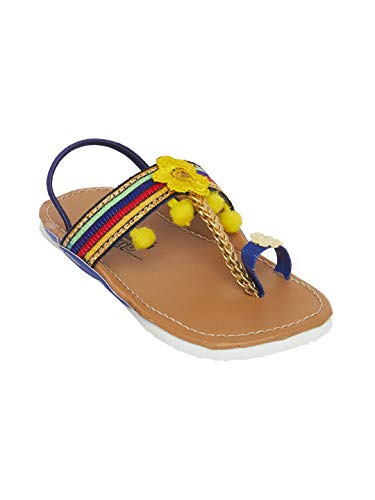 CHIU Yellow Kolhaphri Ethnic for Kids Sandal