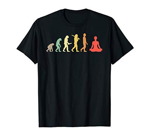 Retro Yoga Evolution Geschenk für Yogis & Yoga Liebhaber T-Shirt