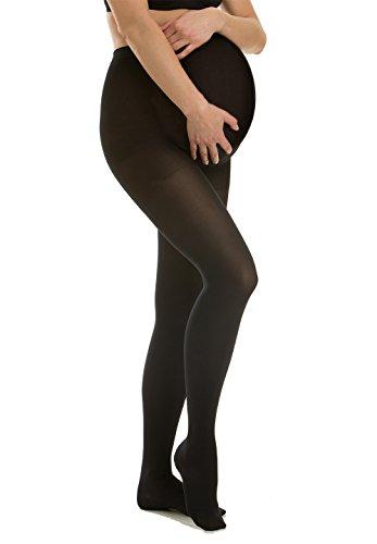 Relaxsan M1090 (Noir, Taille 3) Collant de contention de grossesse Classe 1 (15-21 mmHg) en coton