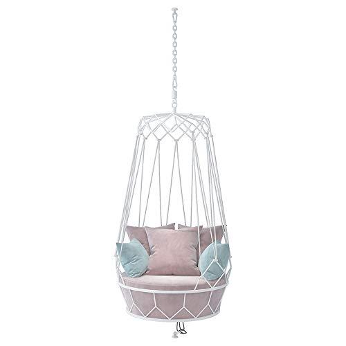 KLFD Swing Chair Indoor & Outdoor Hängekorb, Schwingsessel Hängeschaukel, Terrasse, Balkon, Garten, Bis 120 Kg Belastbar