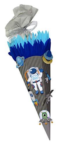 Schultüte Bastelset Raumfahrer - Zuckertüte - aus 3D Wellpappe, 68cm hoch