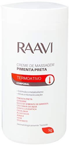 Creme de Massagem de Pimenta Preta Termoativo 1Kg, Raavi