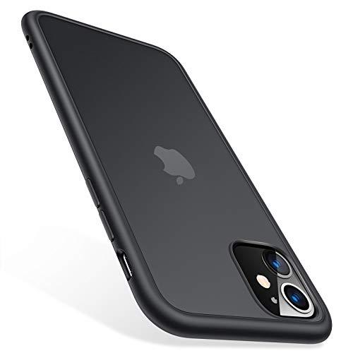 TORRAS für iPhone 11 Hülle (6,1 Zoll) [Schutz nach Militärstandard] Anti-Kratzen Stoßfeste iPhone 11 Hülle Hard PC Back und Soft Silikon Bumper Cover Handyhülle für iPhone 11 (Matt-Schwarz)