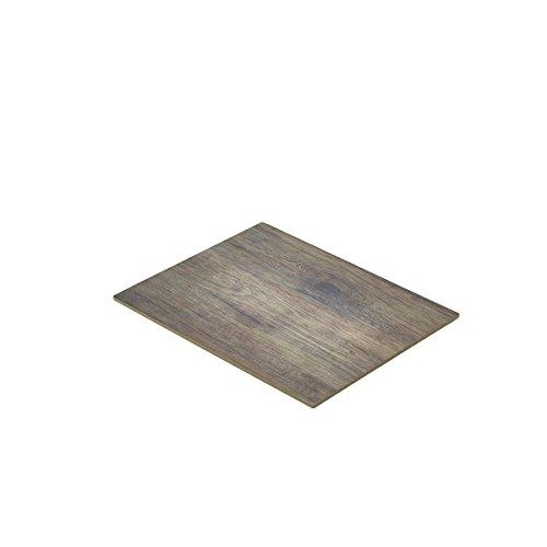 Genware nev-mel12-wd Holz Effekt Melamin-Platte, GN 1/2