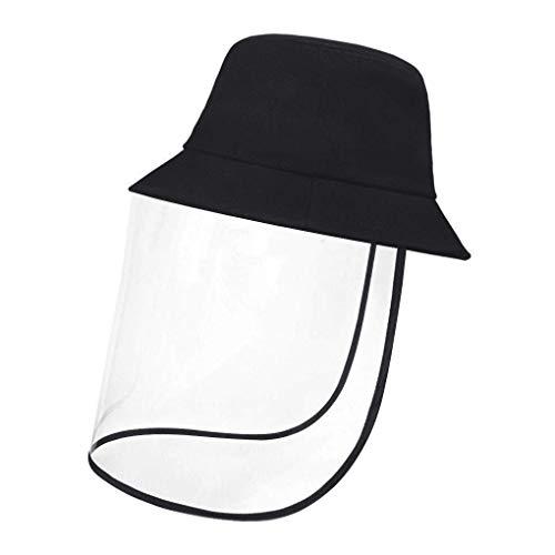 Beschermend gezichtsschild, verwijderbare transparante hoed tegen vlekken Splash Facial Cover Anti UV zon visser hoed voor volwassenen of kinderen 54cm - for Kids