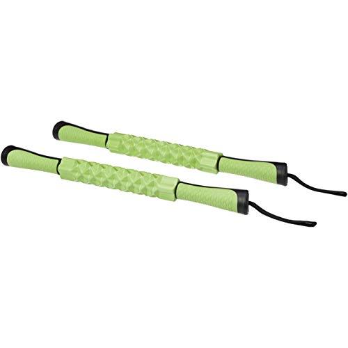 AmazonBasics Rodillo de masaje muscular deportivo verde, paquete de 2 unidades
