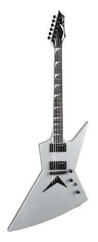 Dean Zero Dave Mustaine E-Gitarre mit Tasche, Metallic Silver