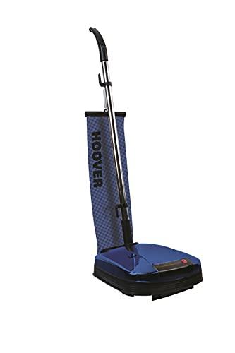 Hoover F3860/1, Enceradora pulidora de suelos, Función aspirador, Potencia 600 W, Luz frontal, Bolsa reusable (3 L), Cable 5 m, Ruedas traseras, Azul