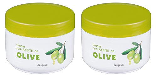 Cien - Crema Corporal Hidratante con Aceite de Oliva, Pack de 2 x 200 ml
