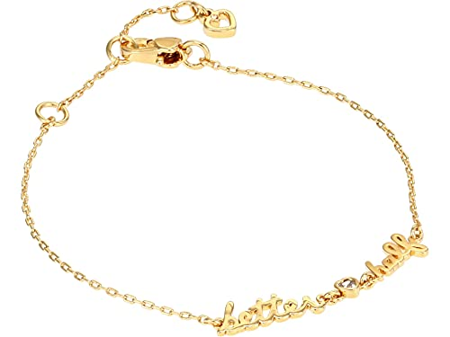 Kate Spade New York Say Yes Better Half Bracelet Clear/Gold One Size