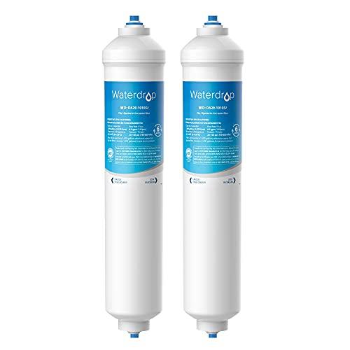 Waterdrop DA29-10105J Fridge Freezer Water Filter, Compatible with Samsung (Only External) DA29-10105J DA99-02131B, HAFEX/EXP American Style DA2010CB Wpro WSF-100 (2)