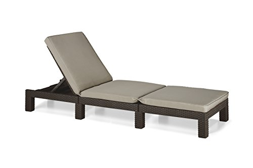 Transcontinental Allibert Daytona Sun Lounger - Brown