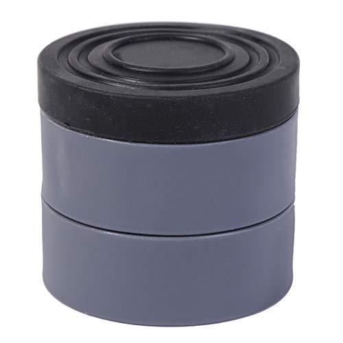 LPOQW 4 almohadillas para pies para lavadora, antivibración, almohadilla antideslizante de goma para lavadoras, secadoras, gris (aumentado en 6 cm)