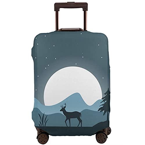 Cubierta de equipaje de viaje Deer Forest Arte al aire libre Maleta Protector lavable Cubiertas de equipaje