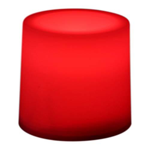 PK Green - Lot de 12 bougies à LED rouges stables - fonctionnement à piles