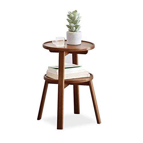 XiYou Mesa Auxiliar de Mesa de Centro, Mesa de té pequeña de combinación Multicapa para el hogar de Madera Maciza, sofá Redondo 44 * 44 * 52,2 cm