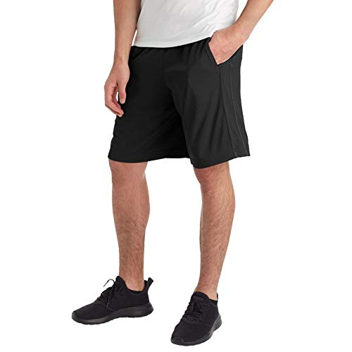 C9 Champion Men's Mesh Shorts-10 Inseam, Ebony, L