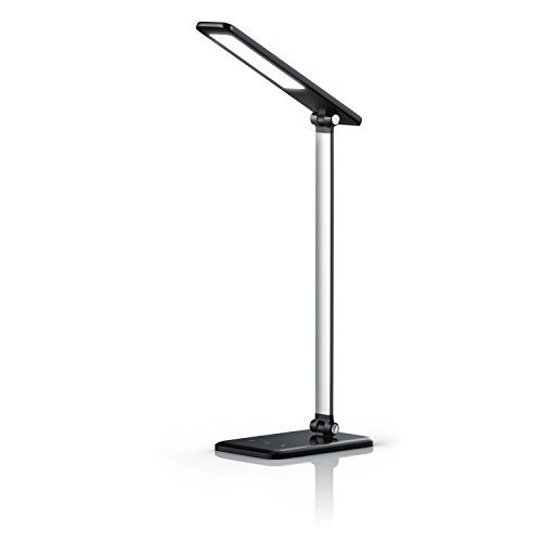 BRANDSON - dimmbare LED Schreibtischlampe   Augenschutz - 3 Helligkeitsstufen (Touch Key)   Touch-Bedienung (berührungsgesteuert)   100° Strahlungswinkel   Nachtlicht-Modus   schwarz