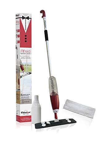 Chimiver Scopa Lavapavimenti per la Pulizia di Tutti i Tipi di Pavimento. Il Kit è Composto da: 1 Spray mop, 1 Panno Microfibra, 1L di LVT Cleaner Alfred Spray Mop | Il Tuo maggiordomo Personale.