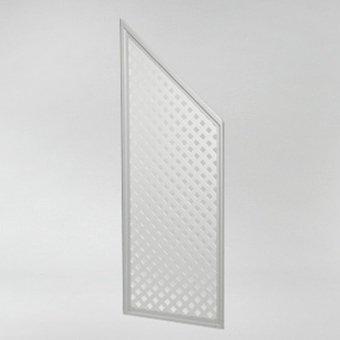 Videx-Abschlusselement Sichtschutzwand Coventry-Diamant, abgeschrägt, weiß