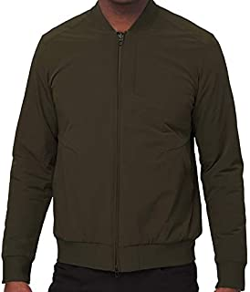 Switch Over Bomber Jacket Reversible (Dark Olive, Small)