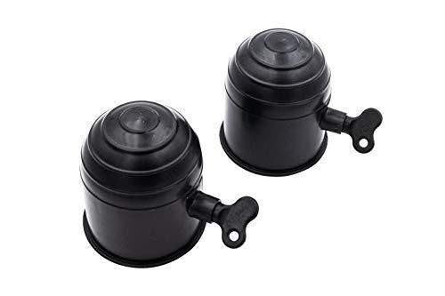 twipp 2er Set Anhängerkupplung Schutzkappe mit Schloss für KFZ Kugelkopf Farbe Schwarz Kugelkopfkupplungen passend für alle Anhängevorrichtungen Witterungsbeständig und Waschanlagensicher