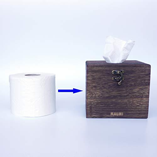 Taschentücher Box Papierspender Serviettenspender Papiertücher Box Spender Halterung mit Klopapier Toilettenpapier WC Papier befüllbar │Toiletten Papier als Serviette Taschentuch Küchenpapier Tuch