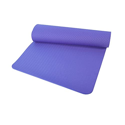 TYUTYU Mat de Yoga Deporte Deporte Estera de Yoga TPE Comodidad Espuma Yoga Mat Pilates Gimnasia Mat Ejercicio en casa Accesorios de Fitness (Color : Violet 183 80 0.8cm)