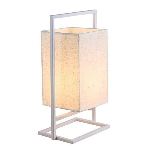 JCXOZ-Lámpara de Mesa Retro Tabla China Lámpara nórdica Tejido de la habitación Mesita de luz Creativo casero Simple decoración Moderna