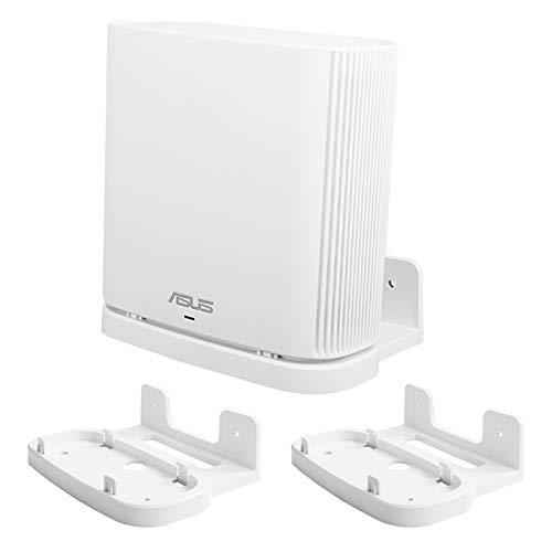 Huafly BECEMURU - Soporte de pared para montaje en pared, soporte protector de pared ABS para ASUS ZenWiFi AC/AX todo el hogar Tri-Band Mesh WiFi 6 System (CT8/XT8) (blanco, 2 unidades)