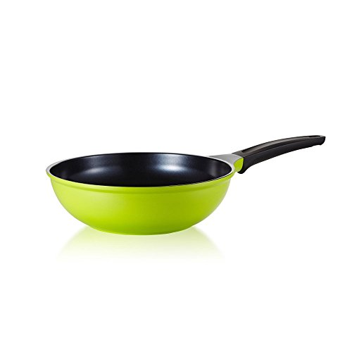Wok com Revestimento Cerâmico Roichen Verde 28 cm
