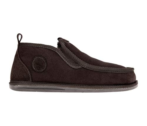 Vanuba Bond - Zapatillas para Hombre Hechas a Mano, Cuero Natural, 100% Lana de Oveja, Zapatos caseros cómodos y cálidos (42 EU, Marrón (Brown))