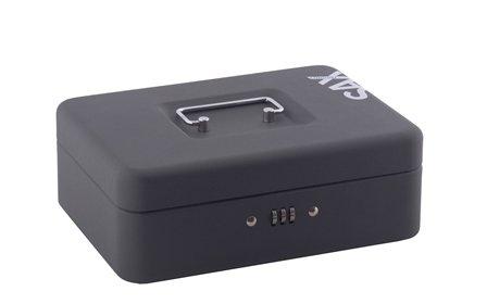 Sax 0-812-19 Geldkassette, B 25 x H 9 x T 18 cm, schwarz…