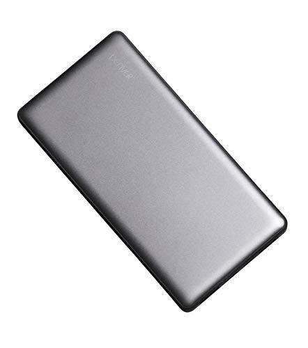 Denver PBS-15003 Powerbank, 15000mAh, 2 x USB, Metall-Gehäuse Silber