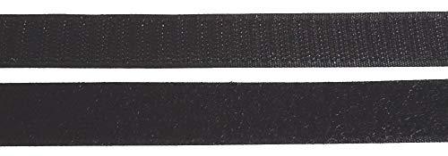 2 m Klettband Haken- und Flauschband 20 mm schwarz zum Nähen