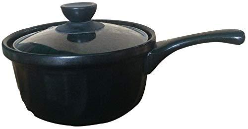 Jooyouo-TH Home Health Melkpan Supplement Voedsel Pot Keramische Soeppot Koken Noodle Hete Melk Braadpan Zonder Vuur Vlam (Kleur: Geel Maat: 1 2L)