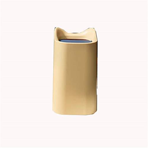 Slaapkamerbak GJDBBLY mini kantoor slaapkamer woonkamer keuken kleine vuilnisbak mand bin goederen voor thuisreiniging 18 * 12.5cm geel