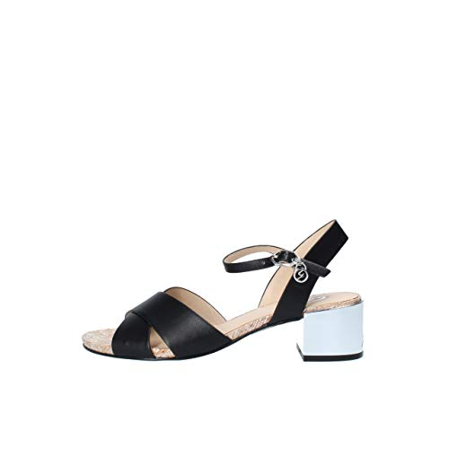 Gattinoni Roma PENCL0830WCA800 - Sandalias bajas, color blanco y camuflaje Negro Size: numeric_39