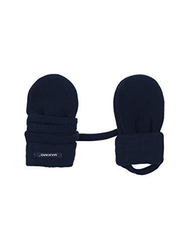 maximo Unisex Baby Fausthandschuh ohne Daumen Handschuhe, Blau (Dunkelmarine 11), One Size (Herstellergröße: 6M)